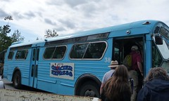 Cruise Day 4: blue Glacier Express in Juneau (missjenn) Tags: bus tourism alaska budget juneau mendenhall affordable