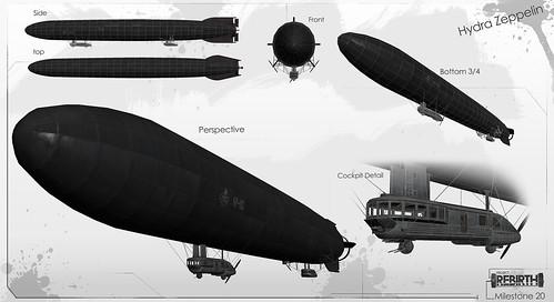 Captain America Concept Art: Zeppelin Hydra