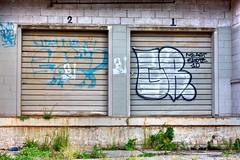 Doorway 3 (39/52) (Wolfman-K) Tags: door 2 ny truck graffiti 1 dock rochester doorway locked tonemapped photochallengeorg 2010challenge 2010challenge39