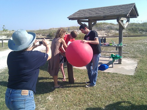 Grassroots mapping, inflating balloons, University of south Alabama
