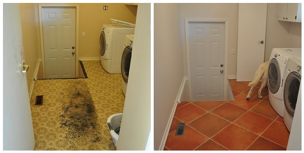 Laundry room - before and after