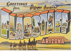 Greetings From Flagstaff Large Letter Postcard (crayolamom) Tags: arizona usa vintage postcard flagstaff reprint greetingsfrom largeletter