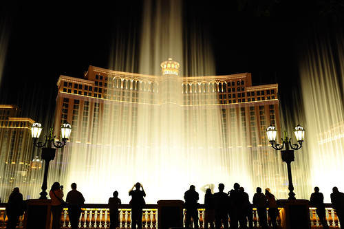 The shadows of the Bellagio...