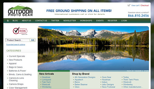 Stark's Photo Featured On Outdoor Photo Gear Homepage