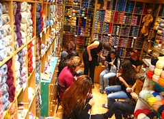 Another knitting class in our shop (sifis) Tags: art fashion canon knitting knit athens class greece s90 handknitting yarns  sakalak woolshop