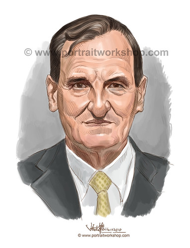 digital portrait illustration of Michael Grenville Gray watermark