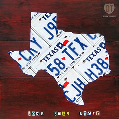 Texas License Plate Map (designturnpike) Tags: wood art vintage print star texas state map recycled retro licenseplate gift lone decor licenseplatemap licenseplateart