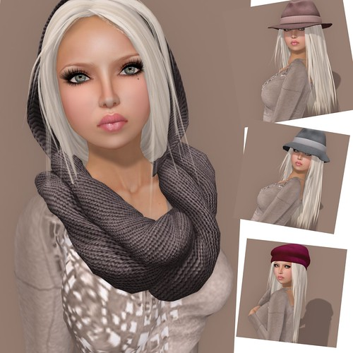 scarves in SL, but you're too lazy to modify existing hairstyles to fit
