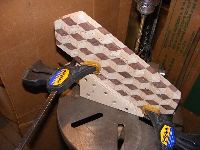 Making a Tumbling Block Cribbage Board #29