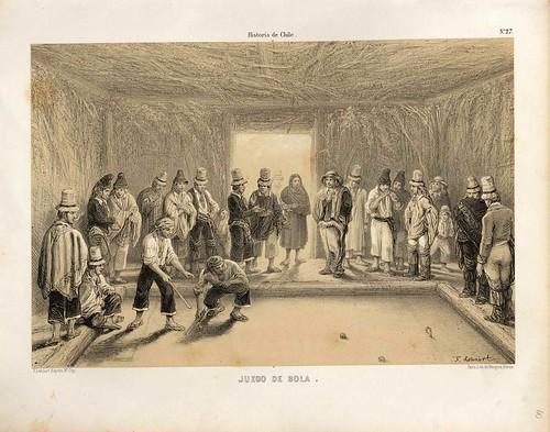 027-Juego de bola-Atlas de la historia física y política de Chile-1854-Claudio Gay