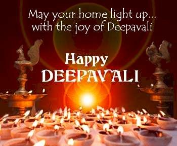 May your home light up with the joy of Deepavali - Wishing you A Happy Depavali !