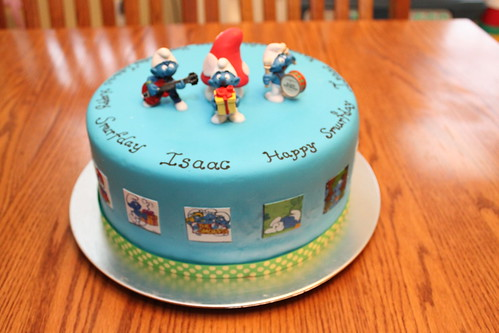Smurf Day Cake
