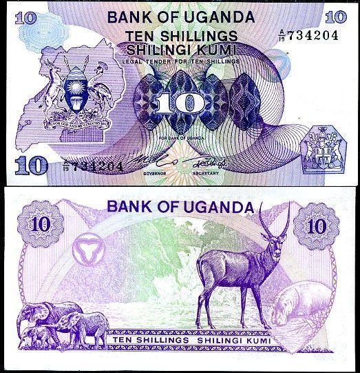 10 Šilingov Uganda 1982, P16