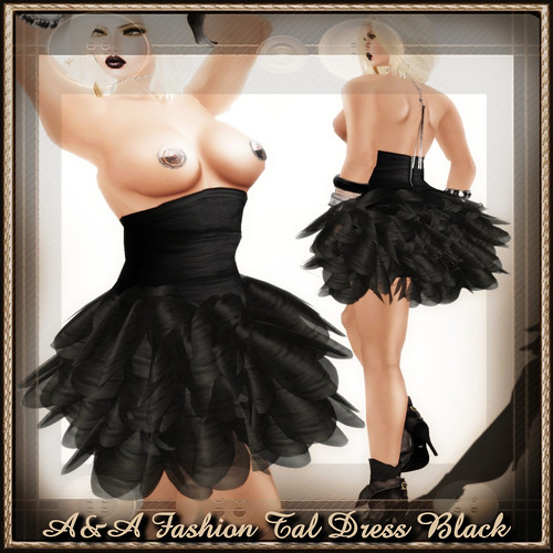 A&A Fashion Tal Dress Black