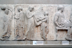 Parthenon, East Frieze, Slab 5, (Peplos Scenes)