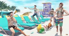 The Beach Boys ツ (brian.werefox) Tags: findyours summerfest clef de peau tram catwa signature slink taketomi balaclava sarisari vale koer bolson katat0nik kalback legal insanity burley beach summer sun boys uber