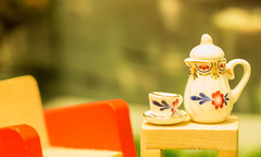 Relaxing with a cup of tea (sueleigh1) Tags: macromondays macro mondays relaxation relaxing tea cupoftea canon 700d canon700d tiny little porcelain table depthoffield atsh tinytoys atshtinytoys atshjuly