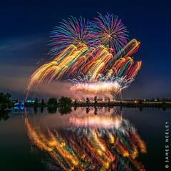 Light Show (James Neeley) Tags: fireworks idaho idahofalls lowlightphotography 4thofjuly jamesneeley
