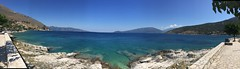 Effimia Panoramic (steve_whitmarsh) Tags: greece kefalonia water sea coast ionian panorama efimia