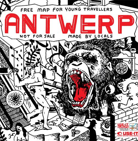 MAP OF ANTWERP