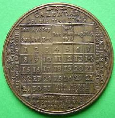 Calendar Medal