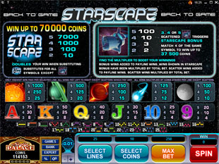 free Starscape slot mini symbol