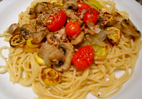 Spaghetti with Grilled Vegetable