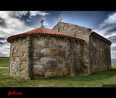 HDR: Capilla de Nuestra Senora de La Lanzada, Sanxenxo, Galicia.
