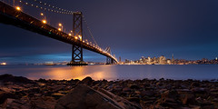 (maxxsmart) Tags: sanfrancisco california christmas longexposure winter coastguard seascape storm color beach skyline clouds canon landscape lights december cityscape cove unique sl trail lee baybridge bayarea bluehour discoball 2009 poisonoak yerbabuenaisland ef1740f4l gnd embrcadero alonghike 5dmarkii watchthetide