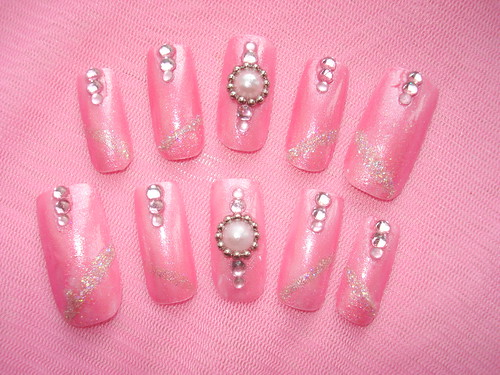 4229311304 f1f104bd5a Nails with Pink Ribbons