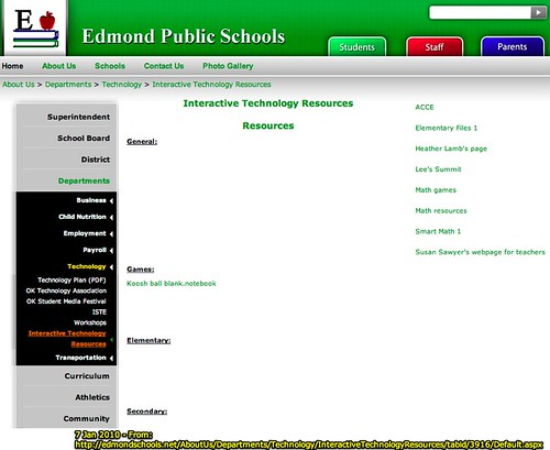 Interactive Technology Resources - Edmond Public Schools