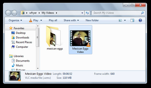 Locally saved video file from Windows Live Movie Maker
