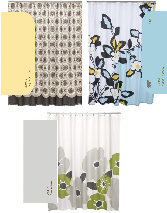 kids, bathroom, design, paint, shower curtain