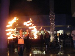 Fire Dancers (KAWGallery) Tags: music art gallery florida popart hibiscus naples kaw flamethrowers