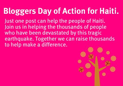 bloggers day of action for haiti