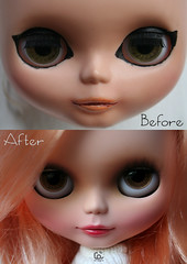 Before&After (erregiro) Tags: mouth nose carved ooak pastel makeup before lips already customized after makeover blythe prima custom dolly reroot erregiro wefted multitonal violetina
