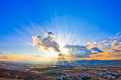 LandScape (AHMED ALKHUZAIE  ) Tags: blue sunset sky cloud sun nature landscape cloudy amman sigma bluesky jordan  1020  bleusky  sigma1020    40d  mywinners       ahmedalkhuzaie