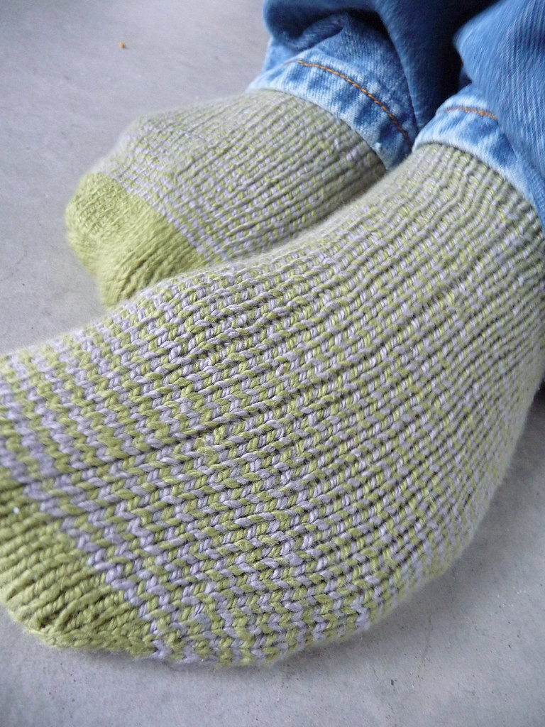 Spiral-Striped Socks