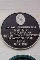Photo of George Cunningham brown plaque