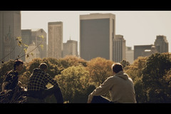 Looking at the World (- Loomax -) Tags: autumn people newyork view skyscrapers centralpark manhattan cinematic 169 frontpage bulidings warmcolors