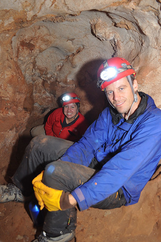 Kathleen Johnson and Michael Griffiths Survey Pig Sty Cave