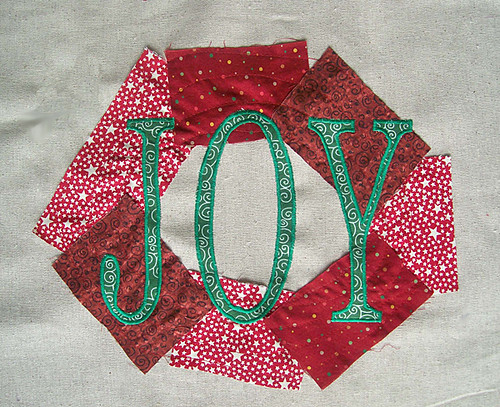 fabric christmas frame