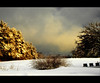 ** winter morning scene ** (xandram) Tags: morning trees winter sun snow clouds photoshop legacy beehives ridetowork theunforgettablepictures coth5 selectbestexcellence sbfmasterpiece