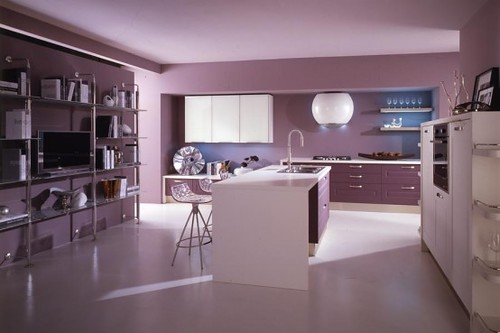 Paars Slaapkamer Interieur : Light Purple Kitchen Wall Ideas