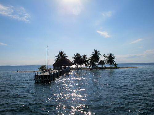 A small caye in Belize