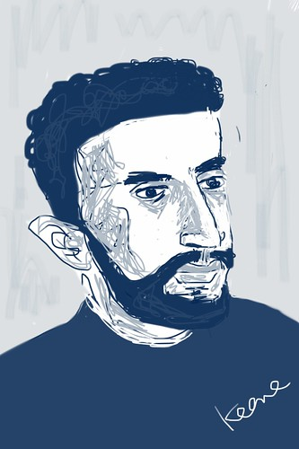 iPhone drawing - Man @ Barbershop