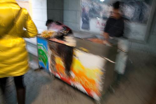 Jianbing cart outside the subway