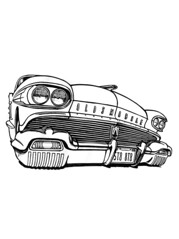 1958 oldsmobile (Quma's Back Yard) Tags: desktop wallpaper white black apple car illustration display drawing low touch interface 88 a4 appearance oldsmobile ipad