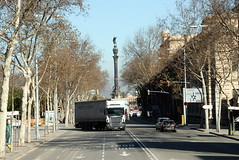 TRUCKING IN BARCELONA (Claude  BARUTEL) Tags: barcelona trucking truck transport port harbour containers spain catalan mediterranea sea boat ship ferry scania