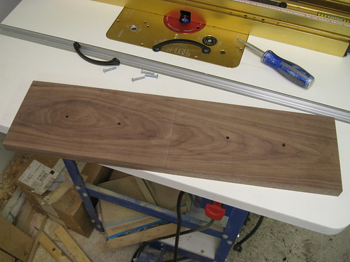 walnut drawer fronts cut to size and drilled for handles